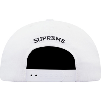 Supreme Champion 5 Panel Cap White 2