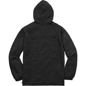 Skew hooded nylon jacket black 2