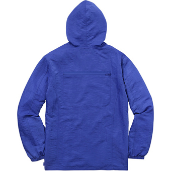Skew hooded nylon jacket Royal 2